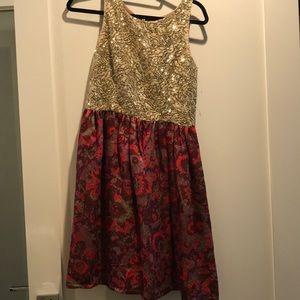Anthropologie sparkle Wren Dress